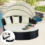 Round Daybed Outdoor Patio Furniture