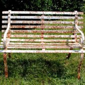 Painting Rusted Metal Patio Furniture